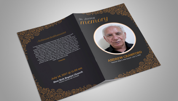 obituary pamphlet template.html