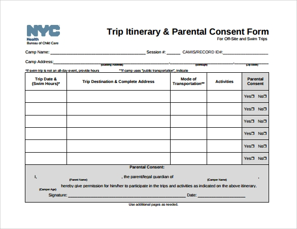 Itinerary Templates 9 Download Documents In Pdf