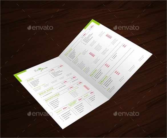 salad bar menu template