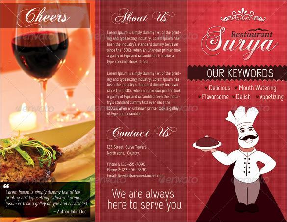 catering menu templates