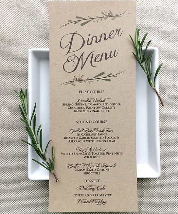 Printable Menu Cards  Printable Cards