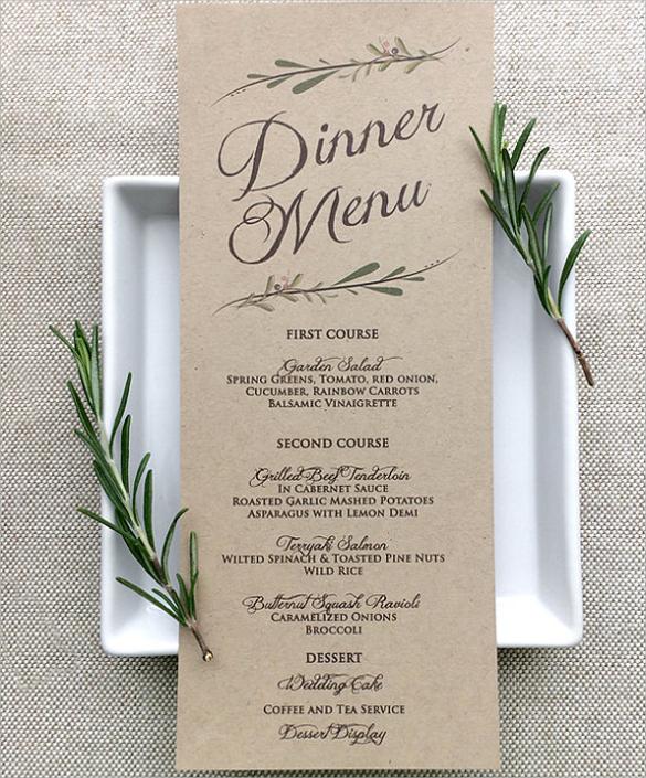 Wedding Food Menus: 29+ Download In PSD, PDF, Word
