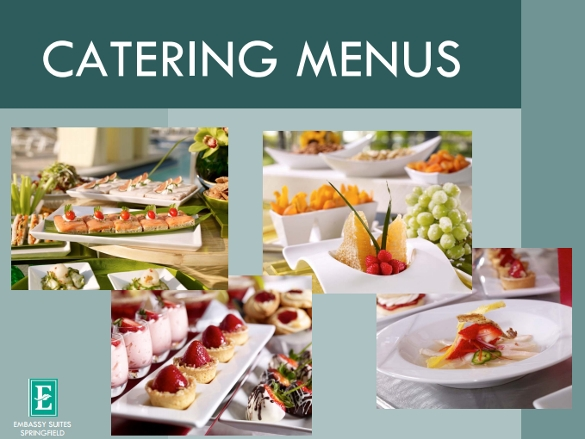 banquet catering menu template free download