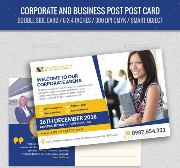 Corporate and Business Post Card