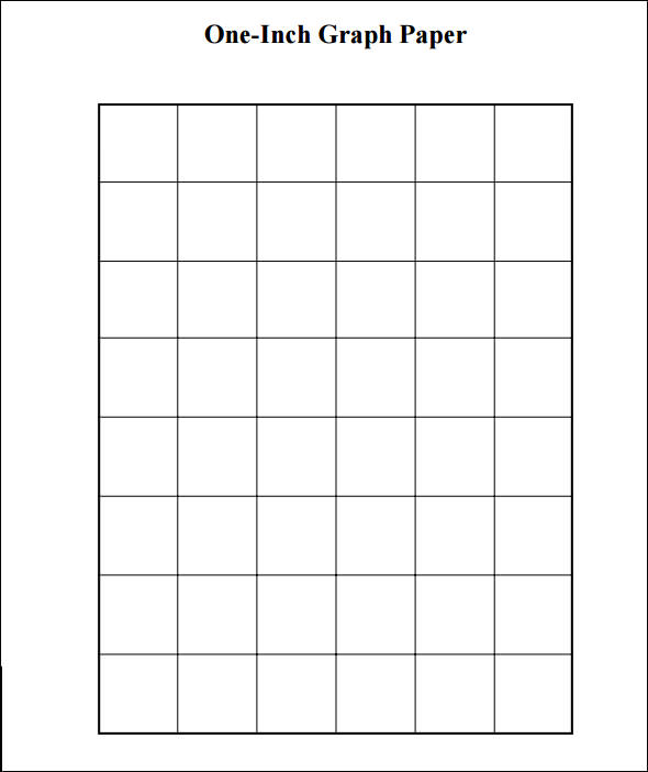 one inch graph paper template - 10 1 inch graph papers sample templates