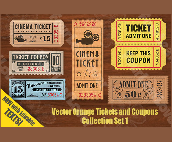 Sample Coupon Template 27 Documents in PSD Vector – Lunch Ticket Template