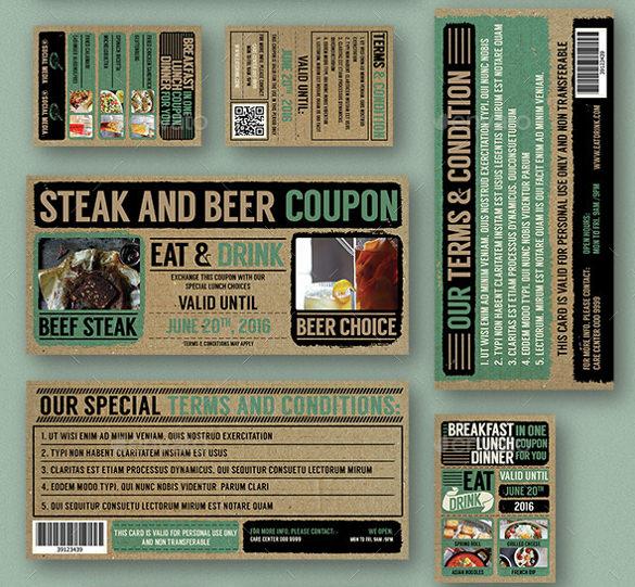 coupon design template psd
