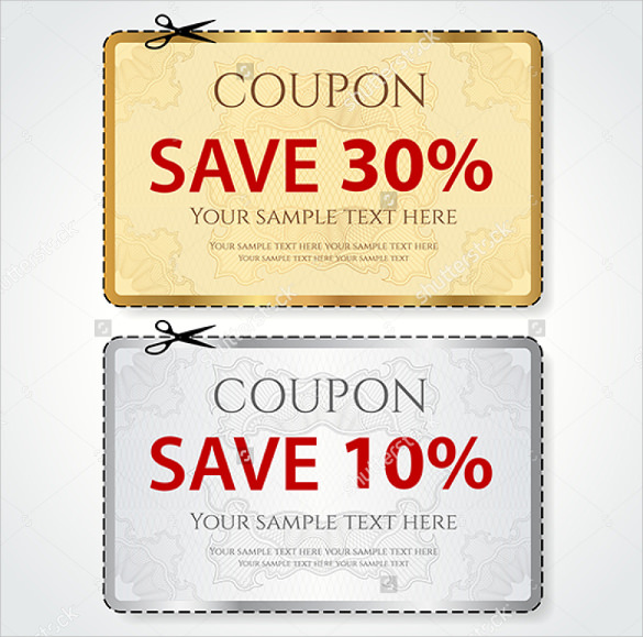 Creative Coupon Design Template  Coupons Design Templates
