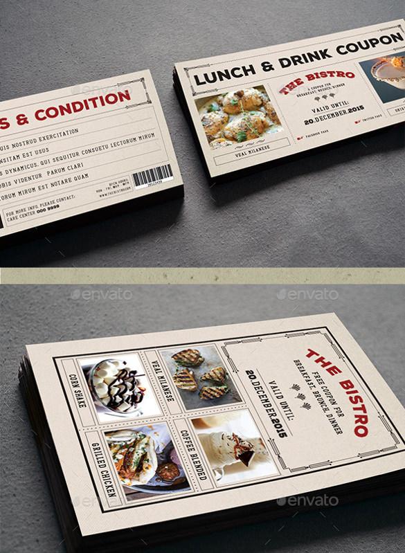 dazzling coupon design template