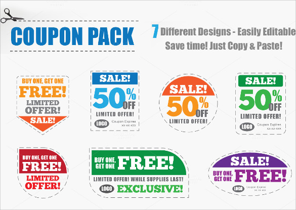Remarkable Coupon Design Template  Free Voucher Design Template