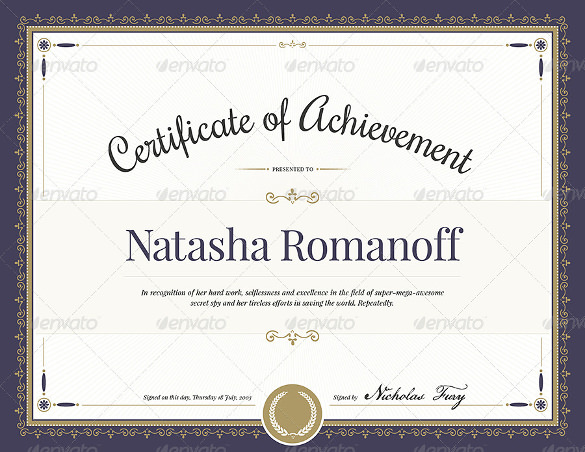 Certificate Award Template Business Certificate  Modern Award