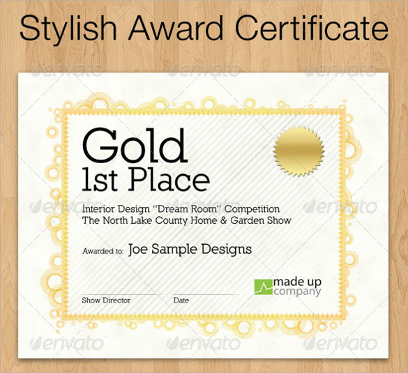 Award Certificate Template - 29+ Download in PDF, Word ...