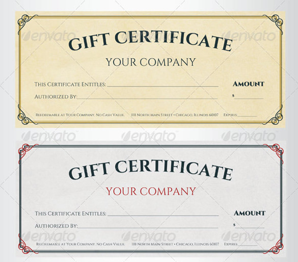 Sample Gift Card Free Printable Gift Certificate Template  Free