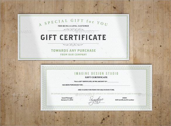 Sample Gift Certificate Template 48 Documents Download in PDF – Gift Certificate Wording