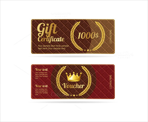 dazzling gift certificate template