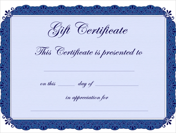Sample Gift Certificate Template 48 Documents Download in PDF – Sample Gift Certificate Template