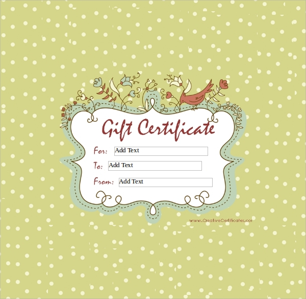 free 60  sample gift certificate templates in pdf