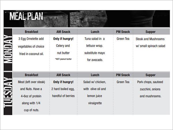 Sample Diet Menu Template - 14+ Free Documents in PDF
