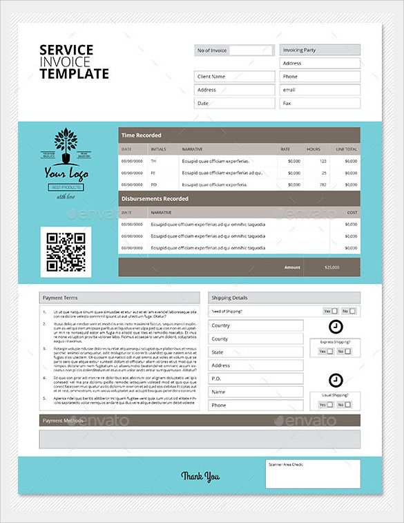 remarkable service invoice template