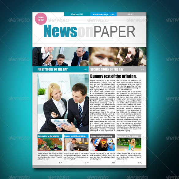creative newspaper template
