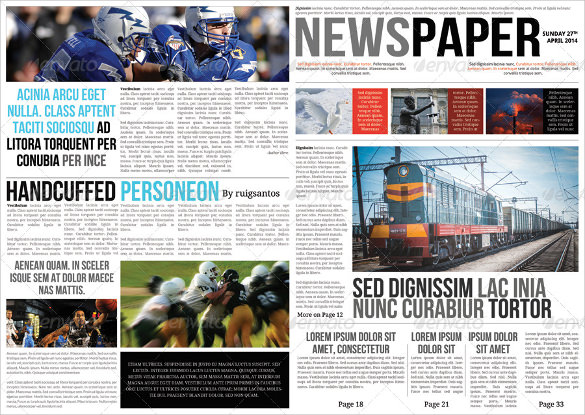A3 Newspaper Template Leoncapers