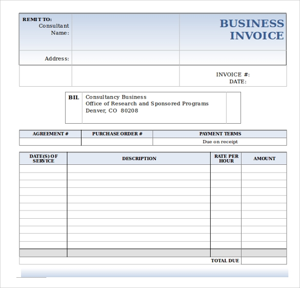 Doc513666 Business Invoice Template Free Invoice Template for – Business Invoice Sample