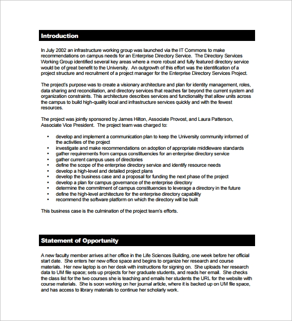 Business case proposal template business case proposal pdf template free downloadg accmission Gallery