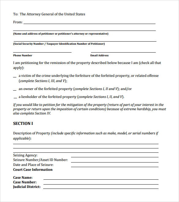 petition template download