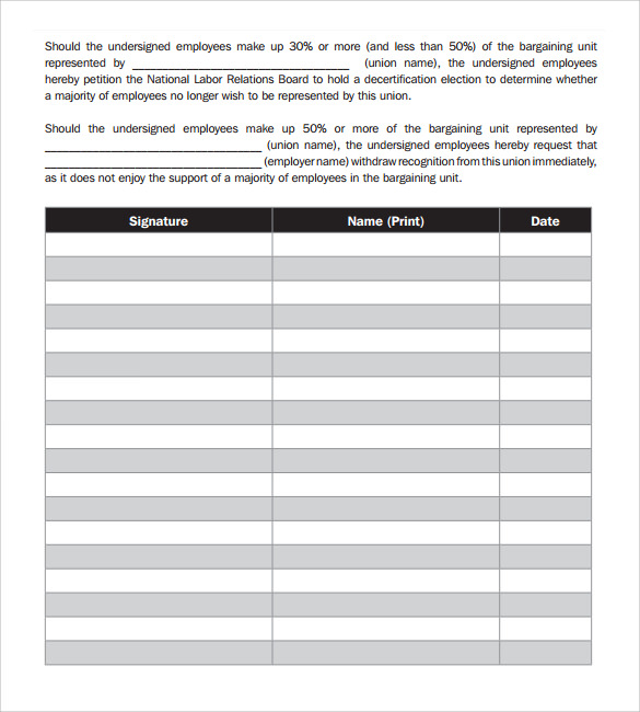 printable petitions 24  Sample Petition Templates – PDF, DOC | Sample Templates