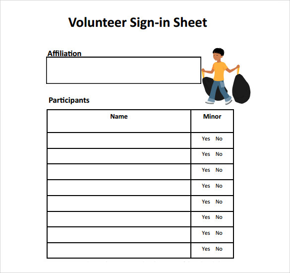 34+ Sample Sign In Sheet Templates – PDF, Word, Apple Pages | Sample ...
