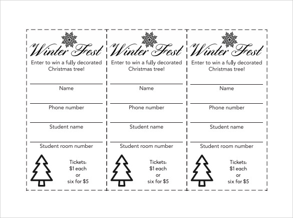 Raffle Ticket Template PDF  Free Numbered Raffle Ticket Template
