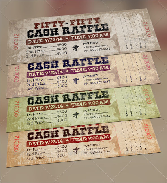 Sample Raffle Ticket Template - 20+ PDF, PSD, Illustration, Word, EPS ...