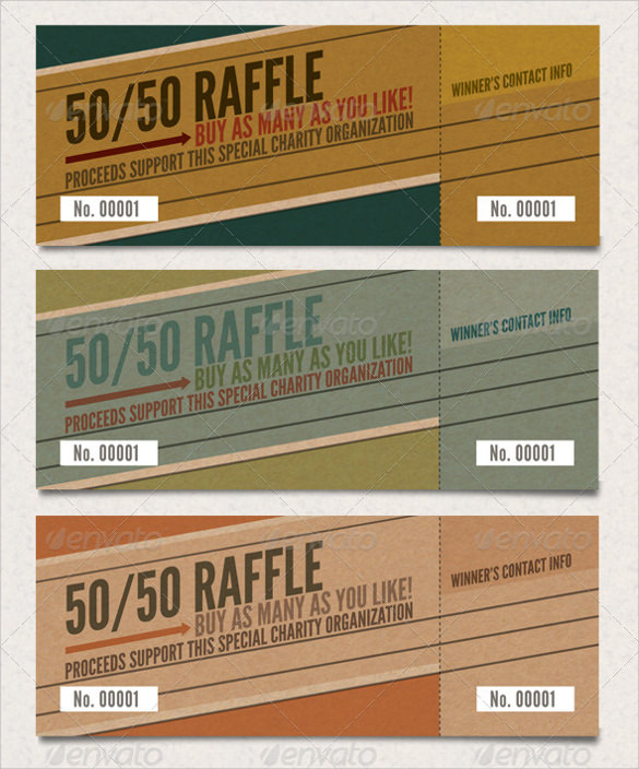 remarkable raffle ticket template