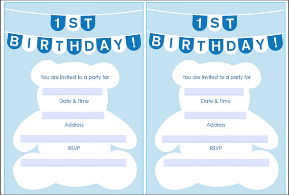 50 printable birthday invitation templates sample templates 1st birthday invitation stopboris Images
