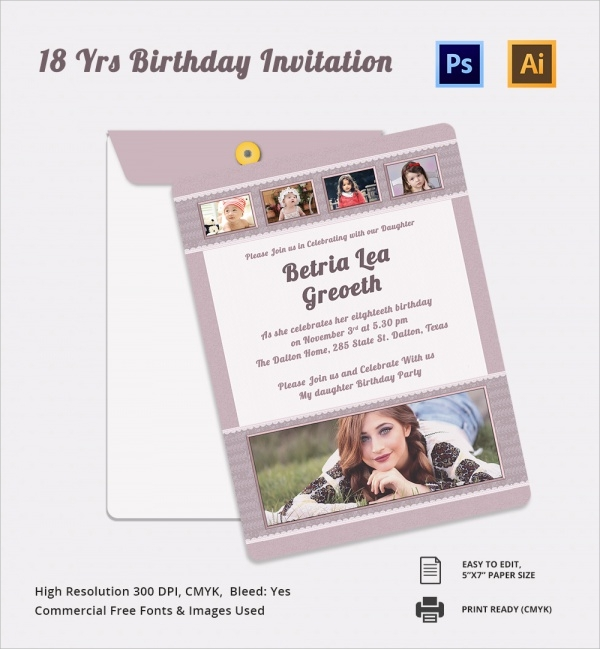 httpsimagessampletemplateswpcontentuplo – Free 18th Birthday Invitations Templates