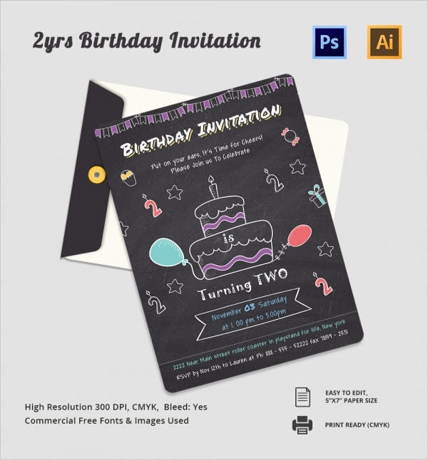 Sample Birthday Invitation Template - 40+ Documents in PDF ...