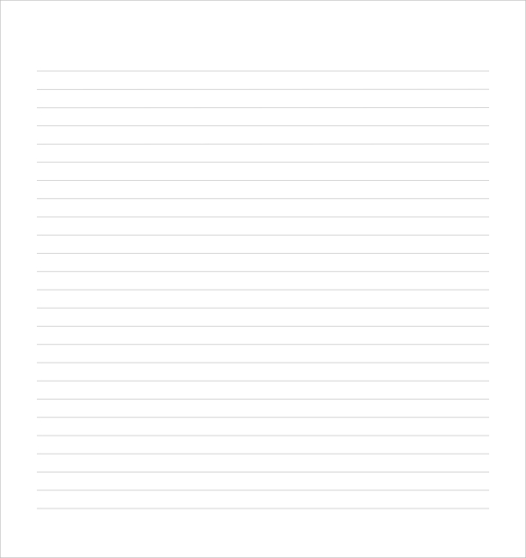 Lined Writing Paper  Free White Paper Templates