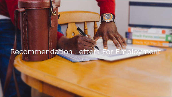15 sample recommendation letters for employment in word