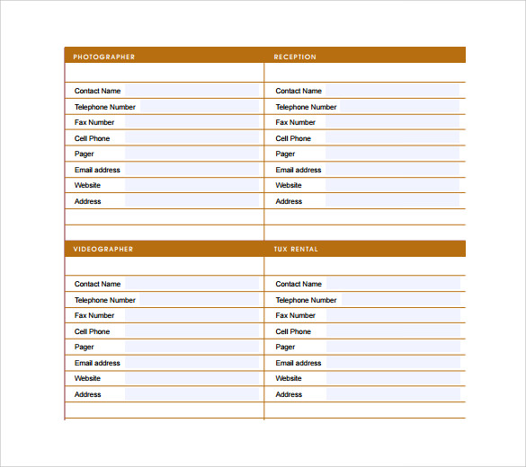 Sample Wedding Guest List Template  Free Documents In Word Pdf