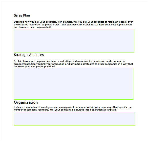 Sales Business Plan Sample