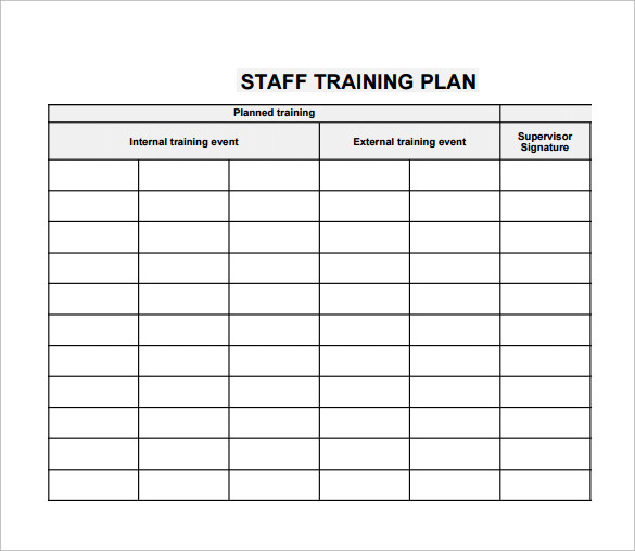 20 sample training plan templates to free download for Trainer manual template