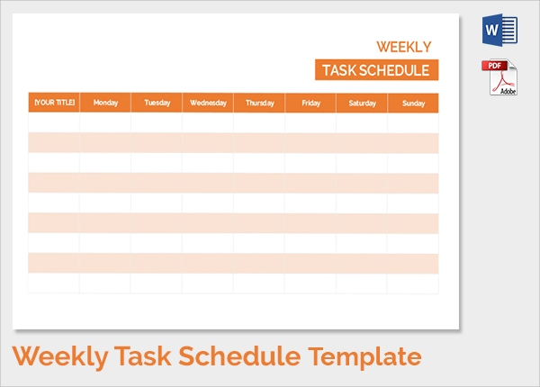 Doc601459 Sample Weekly Schedule Template Sample Weekly – Sample Schedule Template