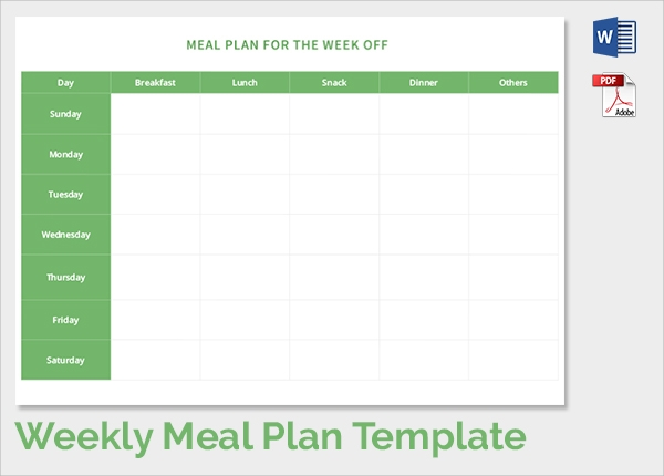 Template Meal Planner Template Weekly Menu Planner Menu Plan – Menu Planning Template