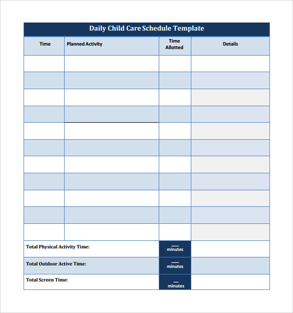 23 Printable Daily Schedule Templates Pdf Excel Word