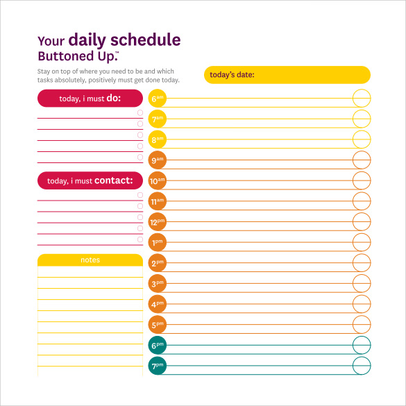 Daily Schedule Template   14  Download Free Documents in PDF Word cJhweCq2