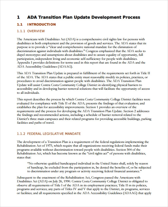 9  sample transition plans  u2013 pdf  word  pages