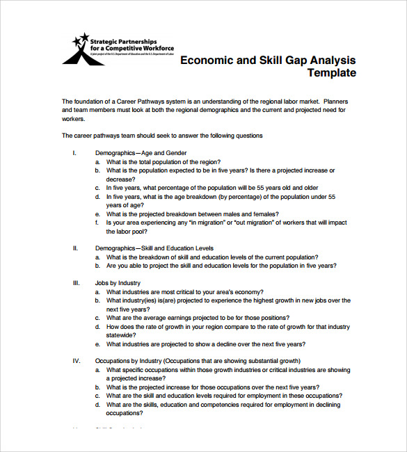 economic gap analysis template