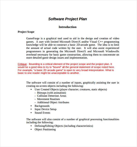 Project Plan Template 12 Download Free Documents in PDF Word – Project Plan Example