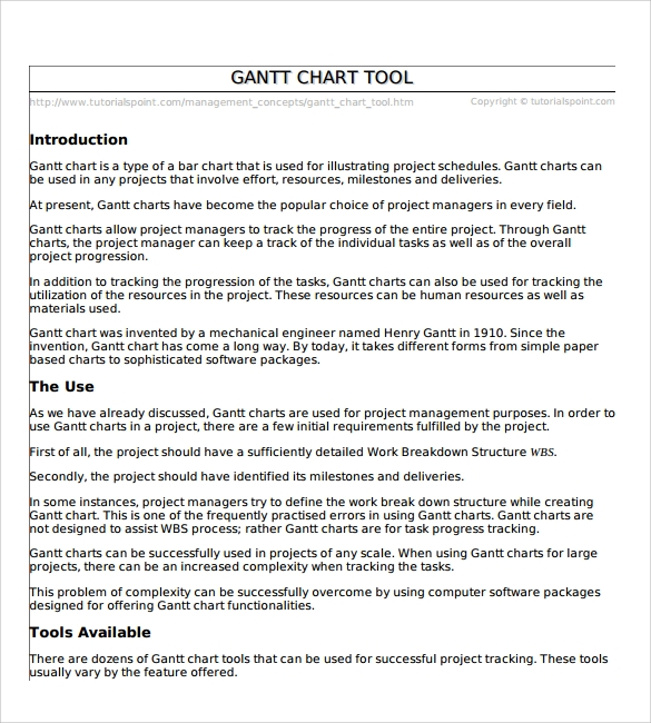 11 Sample Gantt Chart Templates Sample Templates
