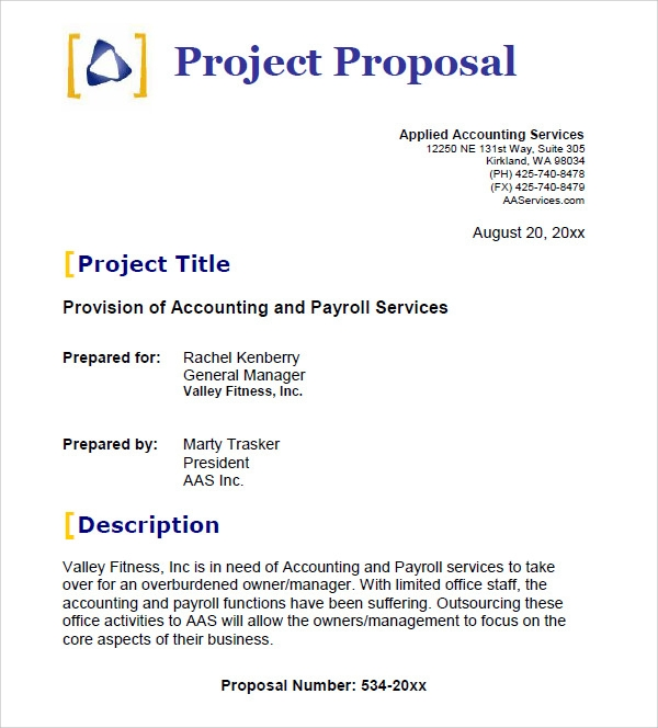 25 free business proposal templates sample templates for Proposal for bookkeeping services template